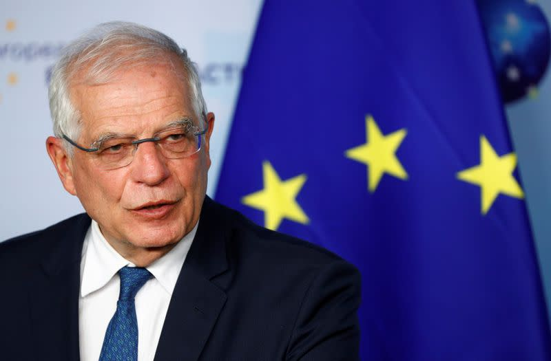 EU High Representative for Foreign Affairs and Security Policy Borrell holds a news conference in Brussels