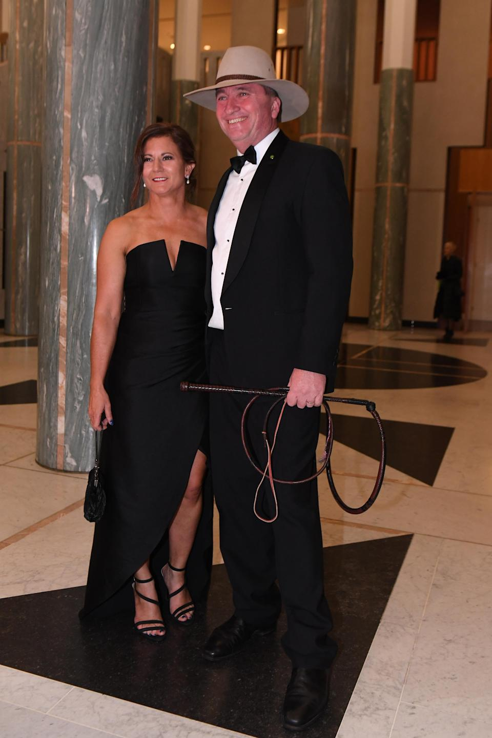 Ms Joyce pictured here with ex-husband Barnaby Joyce in 2017. Source: AAP