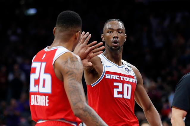 The emergence of Harry Giles has given the Kings a late-season boost. (Lachlan Cunningham/Getty Images)