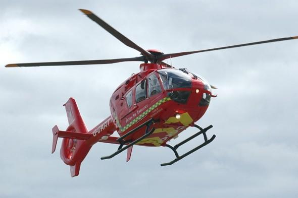 Boy, 12, airlifted to hospital after accident on Devon beach