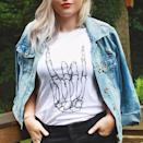 <p>This <span>Skeleton Rock Hand shirt</span> ($21, originally $28) is so cute, you'll wear it the rest of the year, too!</p>