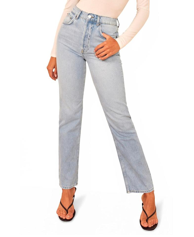 """$128, Nordstrom. <a href=""""https://shop.nordstrom.com/s/reformation-cynthia-high-waist-relaxed-jeans/4994508/full?"""">Get it now!</a>"""