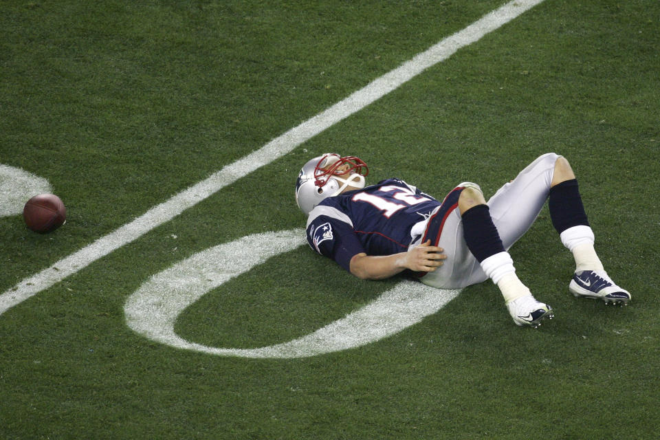 Tom Brady is 5-3 in Super Bowls, including a loss against the New York Giants in Super Bowl XLII. (Getty Images)