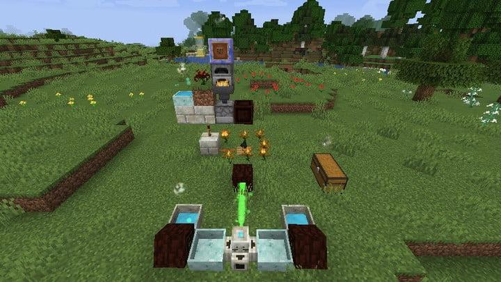 Screenshot of the Minecraft Botania mod, showing some of the magical tools available