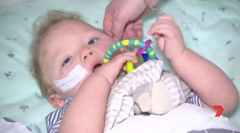 Zavier is suffering up to 50 seizures a day. Source: 7 News