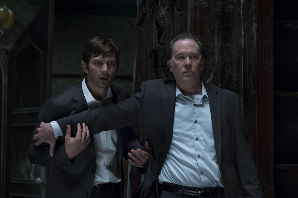 "<p><strong>The Haunting of Hill House</strong>, on the other hand, is quite scary. Scarier than the ghost inhabiting the titular house, though, are the dynamics shared between the members of a once-happy family. This one might leave you in tears for a number of reasons. We're also including the new installment of Netflix's anthology here, <a href=""https://www.popsugar.com/latest/The-Haunting-of-Bly-Manor"" class=""link rapid-noclick-resp"" rel=""nofollow noopener"" target=""_blank"" data-ylk=""slk:The Haunting of Bly Manor""><strong>The Haunting of Bly Manor</strong></a>, which will leave you chilled.</p> <p><strong>Scare factor:</strong> 😱 😱 😱 😱</p>"
