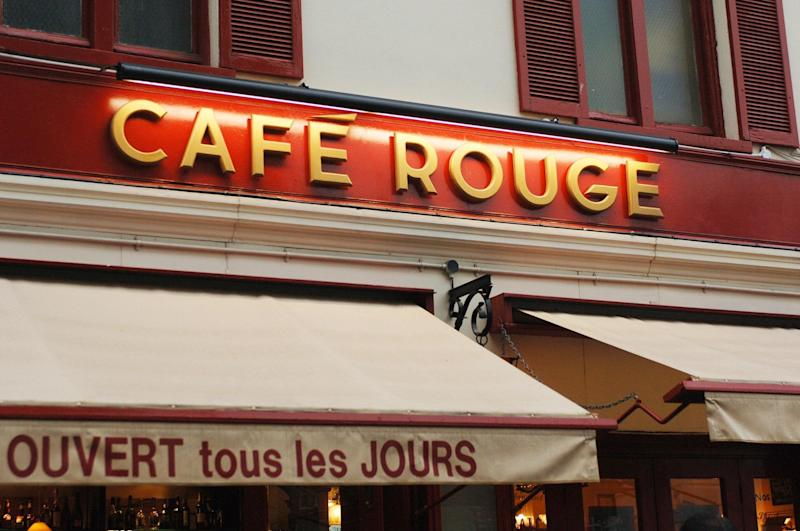 Cafe Rouge in Basil Street, London.