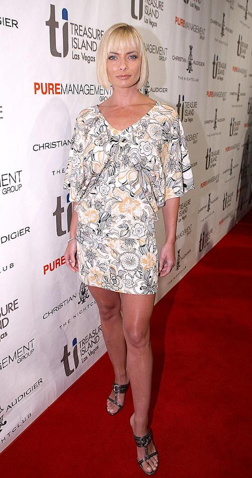 "Even Jaime Pressly's ""My Name Is Earl"" character Joy Turner wouldn't be caught dead in a trailer park in this disgusting mini dress and brutal bob. Chris Weeks/<a href=""http://www.wireimage.com"" target=""new"">WireImage.com</a> - July 4, 2008"