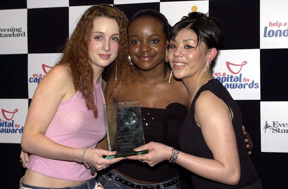 The Sugababes with their award for Best kept secret at the Capital Radio Awards at the Royal Lancaster Hotel in London.