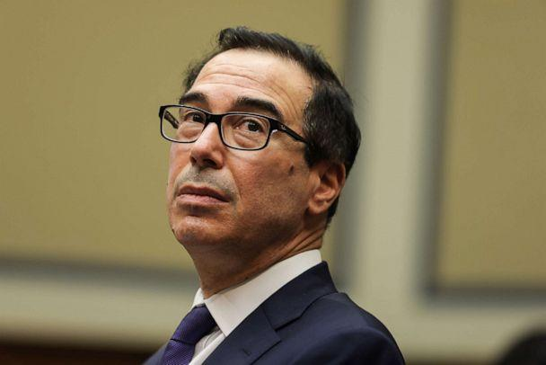 PHOTO: Treasury Secretary Steven Mnuchin testifies before a hearing of the House subcommittee investigating the federal response to the coronavirus crisis on Capitol Hill, Sept. 1, 2020, in Washington. (Graeme Jennings/Pool via Getty Images)