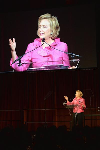 "Former secretary of state Hillary Clinton, who ran against Donald Trump in 2016, slammed the president's transgender ban as ""abhorrent"" (AFP Photo/Andrew H. Walker)"