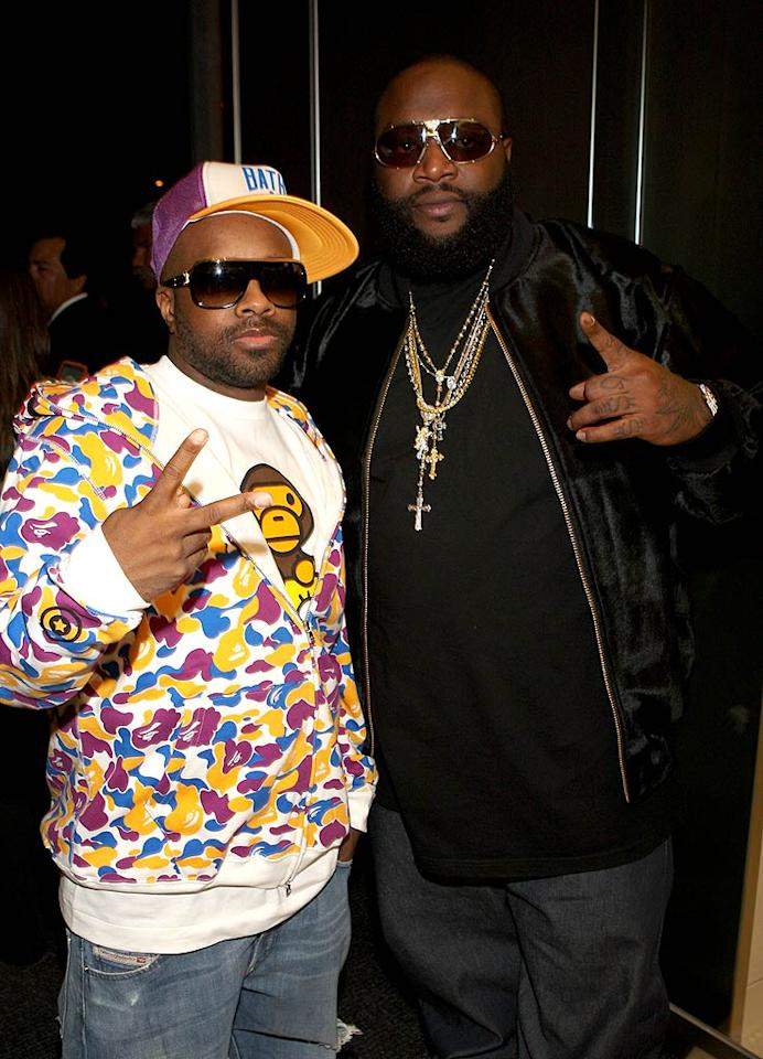 "Janet Jackson's main squeeze Jermaine Dupri and Miami's biggest and baddest rapper Rick Ross strike a pose. Arnold Turner/<a href=""http://www.wireimage.com"" target=""new"">WireImage.com</a> - April 23, 2008"