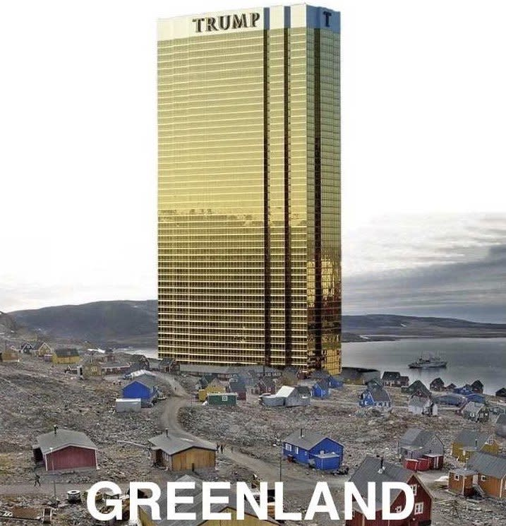 New aesthetic: Trump made light of his own idea of buying Greenland in Denmark (Twitter)