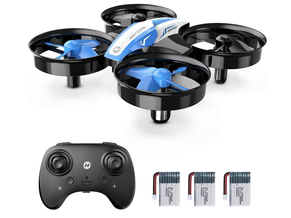 <p>If he's ever been curious about drones, this <span>Holy Stone Mini Drone Nano Quadcopter</span> ($36) is a perfect option for beginners and so fun to use!</p>