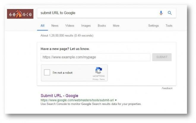 Google URL submission