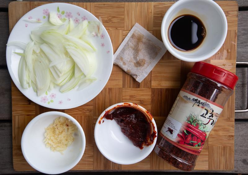 Condiment and sauces for rabboki