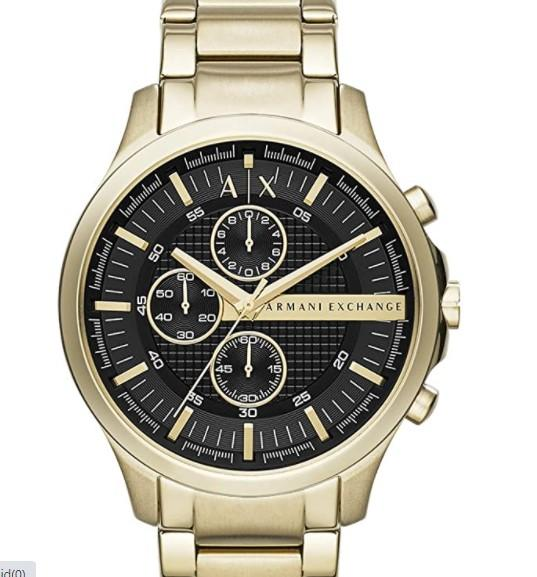 Reloj Armani Exchange para Hombres 46mm, pulsera de Acero Inoxidable/amazon.com.mx