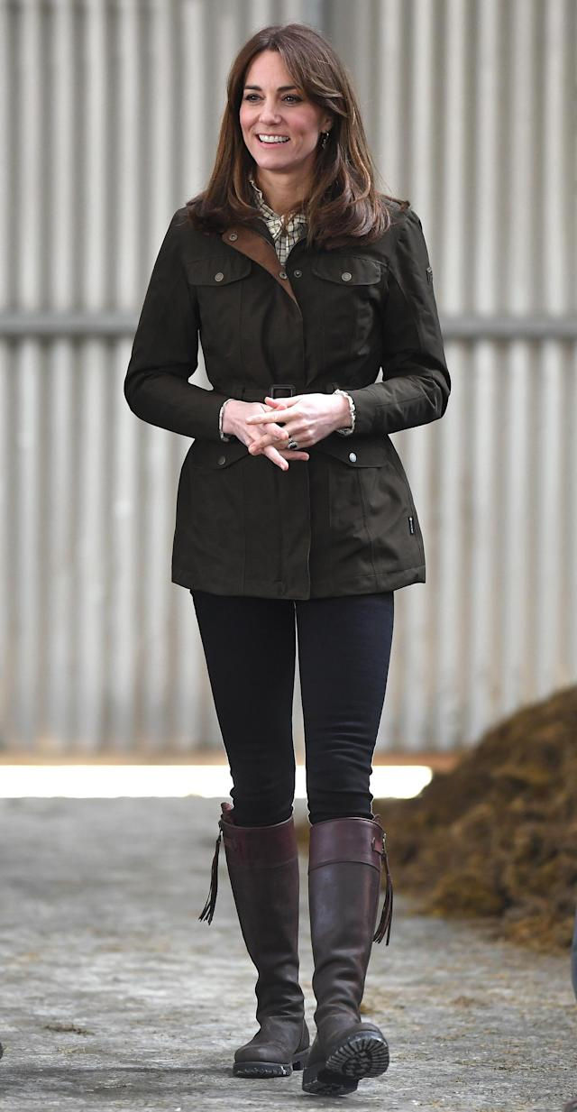 The Duchess of Cambridge visited Teagasc Research Farm in County Meath, Ireland, on the March 4. (Getty Images)