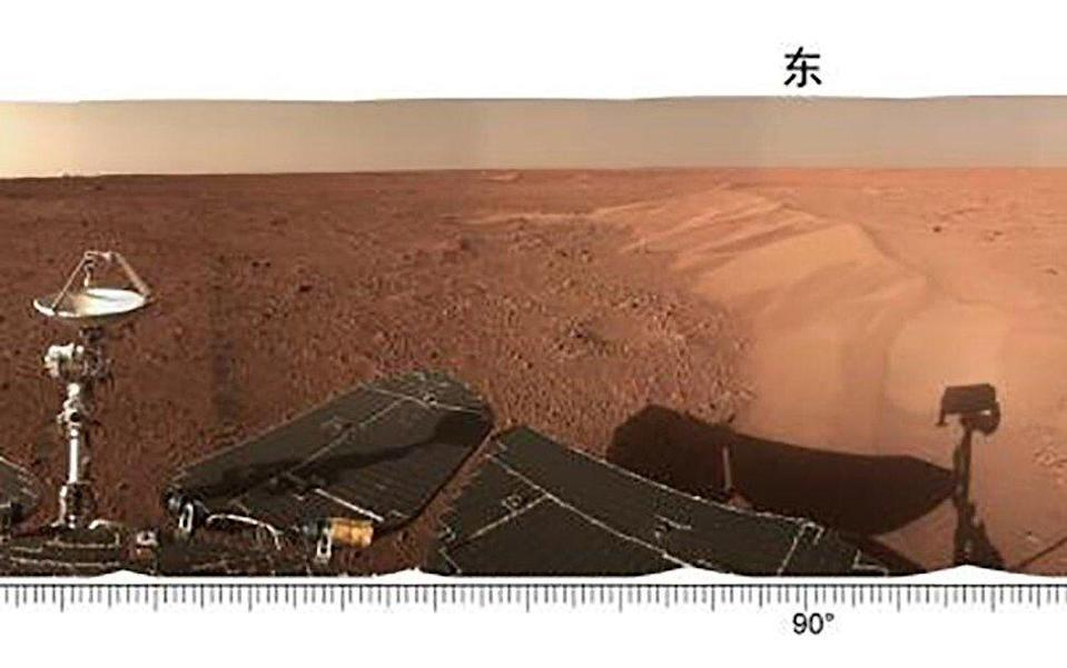 China released the latest images of its Mars rover on Monday. Photo: CNSA