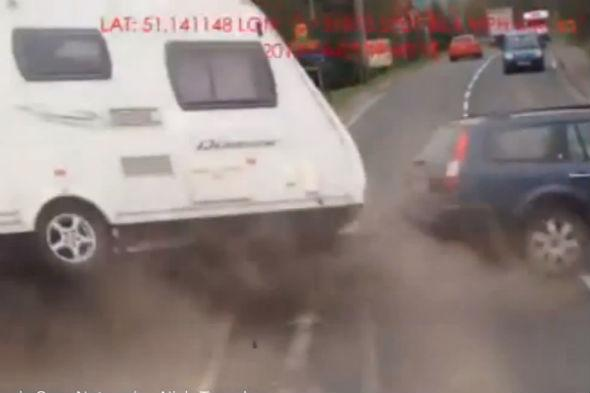 Caravan car crash
