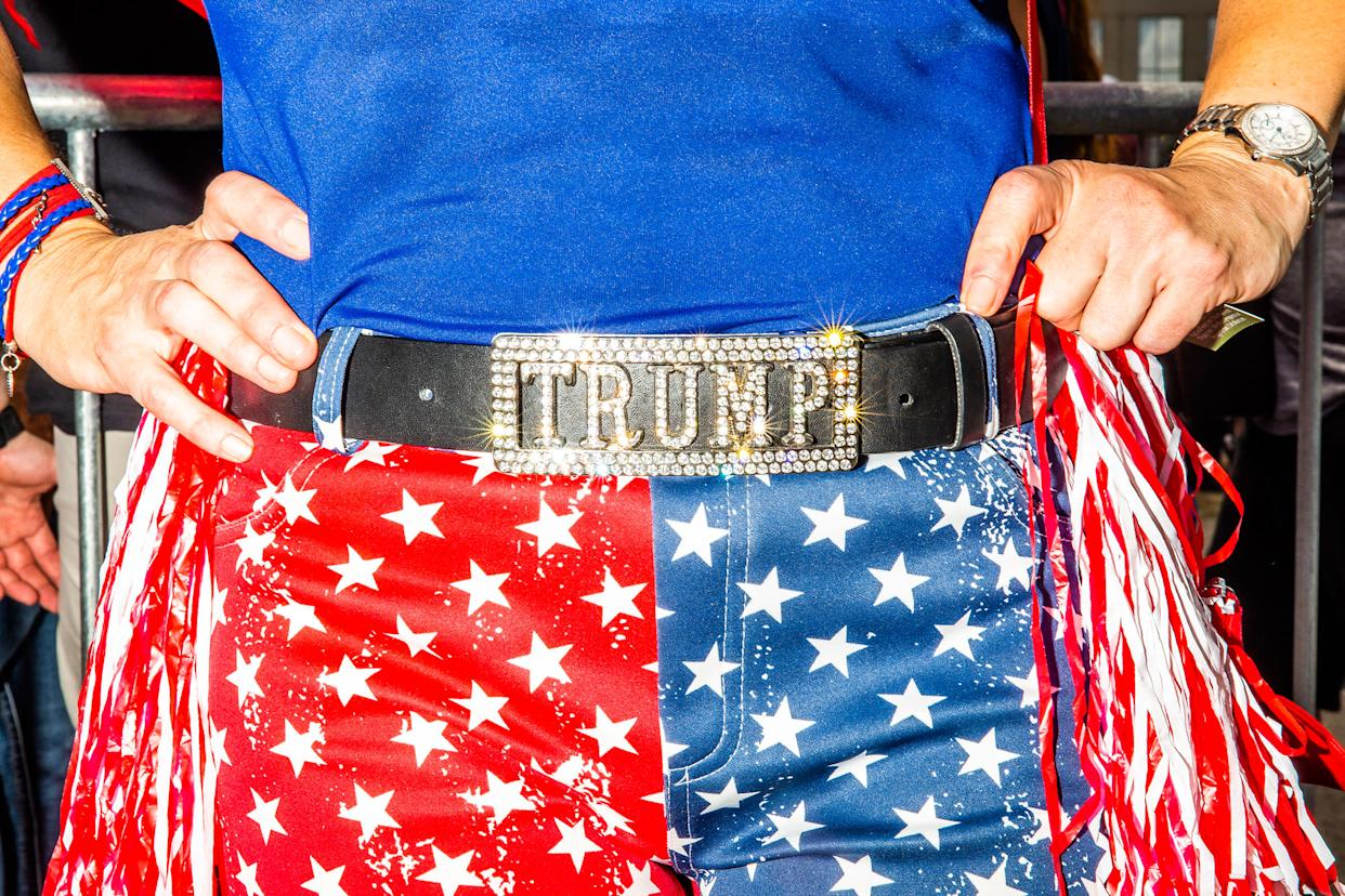 A clothing detail in Orlando for Trump's campaign kickoff. | David Williams—Redux for TIME