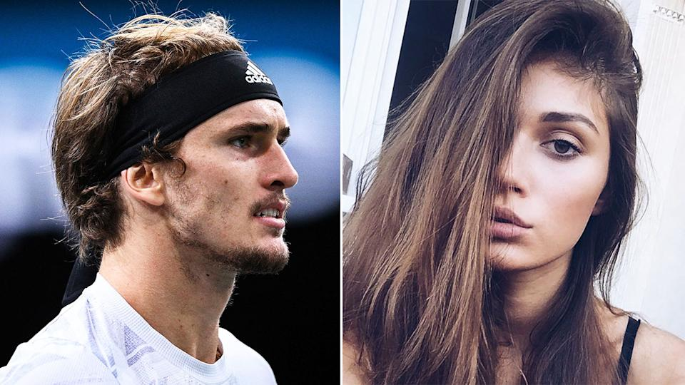Seen here, Alexander Zverev is at the centre of ugly allegations made by ex-girlfriend Olga Sharypova.