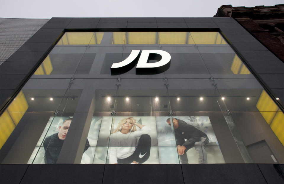 A JD sports store in the centre of Leeds