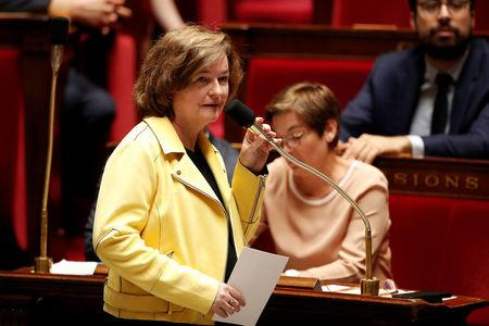 Nathalie Loiseau, French Minister attached to the Foreign Affairs Minister, attends the questions to the government session at the National Assembly in Paris