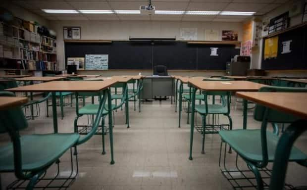 There will be empty classrooms at 22 schools in Toronto starting on Tuesday. Toronto Public Health has recommended the closures to allow officials more time to investigate COVID-19 cases. (Evan Mitsui/CBC - image credit)