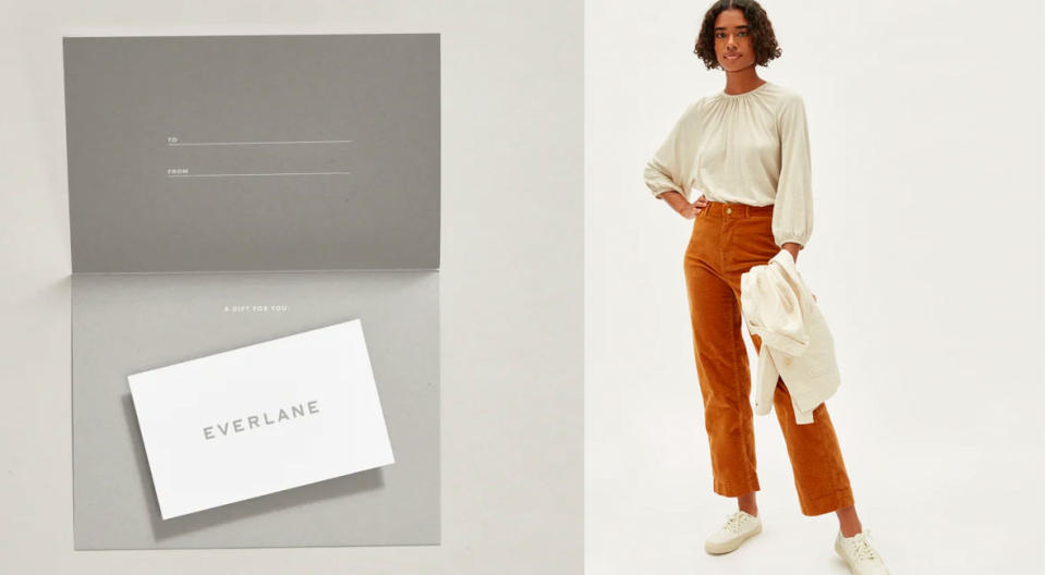 For chic basics that become favorite forever pieces—gift to your fashion-y friend. (Photo: Everlane)