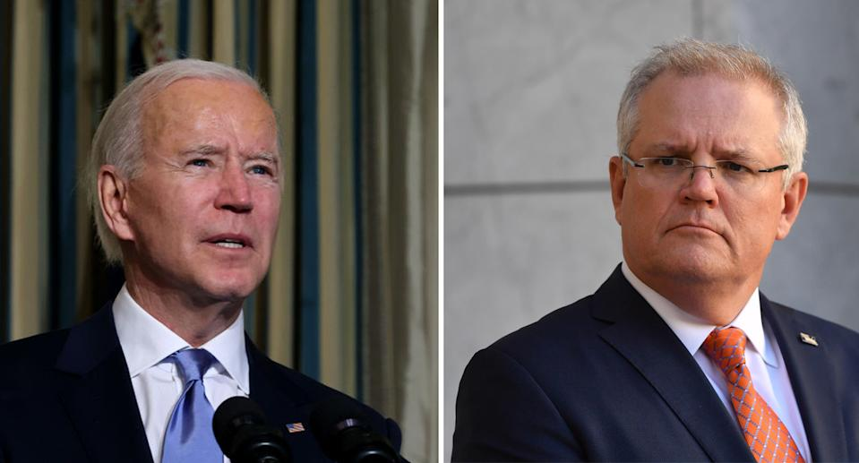 Scott Morrison awaits to see if Australia will enjoy a similarly strong relationship with the US under Joe Biden. Source: Getty