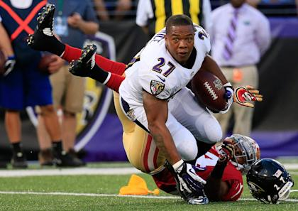 The Ravens terminated the multimillion dollar contract with RB Ray Rice on Monday. (Getty Images)