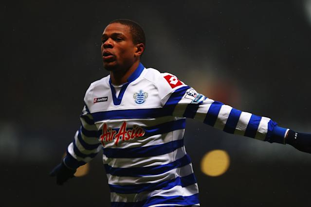 LONDON, ENGLAND - JANUARY 19: Loic Remy of Queens Park Rangers celebrates scoring during the Barclays Premier League match between West Ham United and Queens Park Rangers at Upton Park on January 19, 2013 in London, England. (Photo by Clive Rose/Getty Images)
