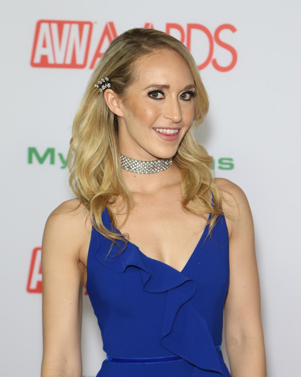 LAS VEGAS, NEVADA - JANUARY 26: Adult film actress Ginger Banks attends the 2019 Adult Video News Awards at The Joint inside the Hard Rock Hotel & Casino on January 26, 2019 in Las Vegas, Nevada. (Photo by Gabe Ginsberg/Getty Images)