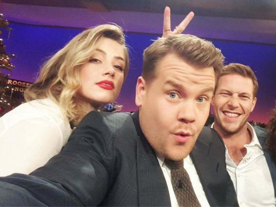 Undated picture shown in court of Amber Heard on the James Corden show in December 2015. (PA)