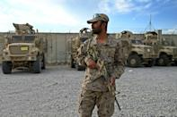 The sprawling Bagram base now in control of the Afghan military was once home to tens of thousands of US and allied soldiers