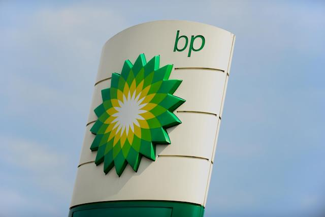 The Oil industry company BP logo seen in Krakow. (Omar Marques/SOPA Images/LightRocket via Getty Images)