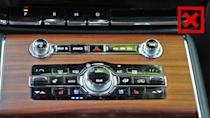 "<p>For an SUV that costs more than $75,000, there are some unusually cheap pieces. The textured aluminum knobs controlling volume, tuning, and fan speed look nice but feel flimsy.</p> <p>The shiny black buttons surrounding those dials (for things like temperature and seat heating and cooling) look and feel cheap, too. And the ""chrome"" trim that outlines the center console and the touchscreen is really a cheap plastic that feels like it could fall off in your hand.</p> <p>In most vehicles we test, hard plastic near or below the knee is fine. But again, for a $75,000 luxury SUV, this many hard materials on the door panel and center console is almost inexcusable. Alternatives like the Audi Q7, BMW X5, and Mercedes-Benz GLE do have some hard plastic, but not this much.</p><ul><li><a href=""https://www.motor1.com/reviews/392242/2020-lincoln-aviator-grand-touring-black-label-review/?utm_campaign=yahoo-feed"" rel=""nofollow noopener"" target=""_blank"" data-ylk=""slk:2020 Lincoln Aviator Grand Touring Black Label Review: Take To The Sky"" class=""link rapid-noclick-resp"">2020 Lincoln Aviator Grand Touring Black Label Review: Take To The Sky</a></li><br><li><a href=""https://www.motor1.com/reviews/365965/2020-lincoln-aviator-first-drive/?utm_campaign=yahoo-feed"" rel=""nofollow noopener"" target=""_blank"" data-ylk=""slk:2020 Lincoln Aviator First Drive: Sitting In First Class"" class=""link rapid-noclick-resp"">2020 Lincoln Aviator First Drive: Sitting In First Class</a></li><br></ul>"