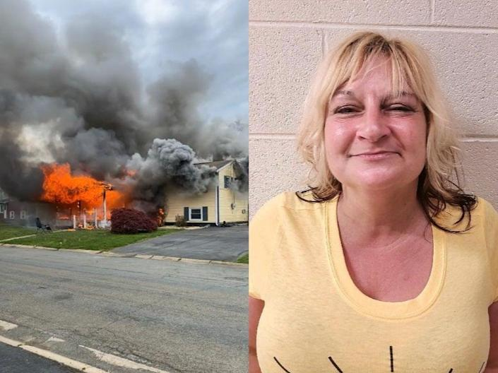 <p>Witnesses said Gail Metwally, 47, of Elkton in Cecil County allegedly set 'multiple' fires in the home</p> (Maryland State Fire Marshal)