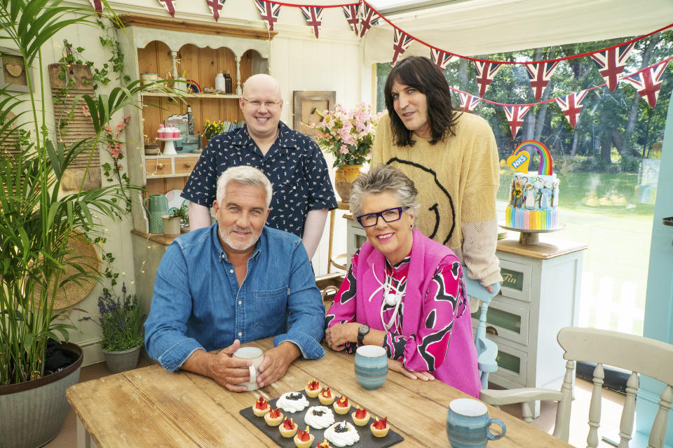 'Great British Bake Off's Paul Hollywood, Matt Lucas, Prue Leith and Noel Fielding. (Channel 4)