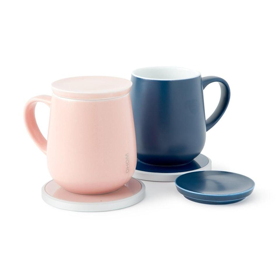 <p>Make sure her coffee stays warm all day with the <span>Self Warming Ceramic Mug and Charger</span> ($75).</p>