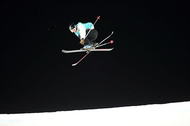 Freestyle Skiing - X Games Men's Big Air Ski finals - Hafjell, Norway - 11/03/17 - Bronze medalist Jackson Wells from New Zealand in action. NTB Scanpix/Geir Olsen/via REUTERS ATTENTION EDITORS - THIS IMAGE WAS PROVIDED BY A THIRD PARTY. FOR EDITORIAL USE ONLY. NORWAY OUT. NO COMMERCIAL OR EDITORIAL SALES IN NORWAY. NO COMMERCIAL SALES.