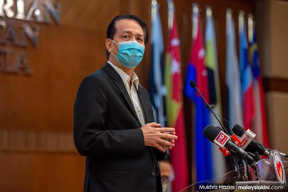 Health Ministry director-general Dr Noor Hisham Abdullah became a national figure as he provided daily updates on the progress of the pandemic. This briefing is from Nov 3, 2020. <p><br></p>