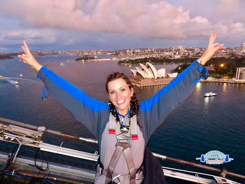 A mother-of-two travelled to Sydney, Australia without spending a penny [Photo: SWNS]