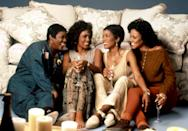 "<p>Whitney Houston, Angela Bassett, Loretta Devine, and Lela Rochon play four single women who are holding their breath until they find a supportive, loving, and committed relationship. <em>Yeah, can't relate.</em> Bonus points to this movie for the original music, which was composed by Kenneth ""Babyface"" Edmonds.</p> <p><em>Available to rent on</em> <a href=""https://www.amazon.com/Waiting-Exhale-Angela-Bassett/dp/B007A0YIUQ"" rel=""nofollow noopener"" target=""_blank"" data-ylk=""slk:Amazon Prime Video"" class=""link rapid-noclick-resp""><em>Amazon Prime Video</em></a><em>.</em></p>"