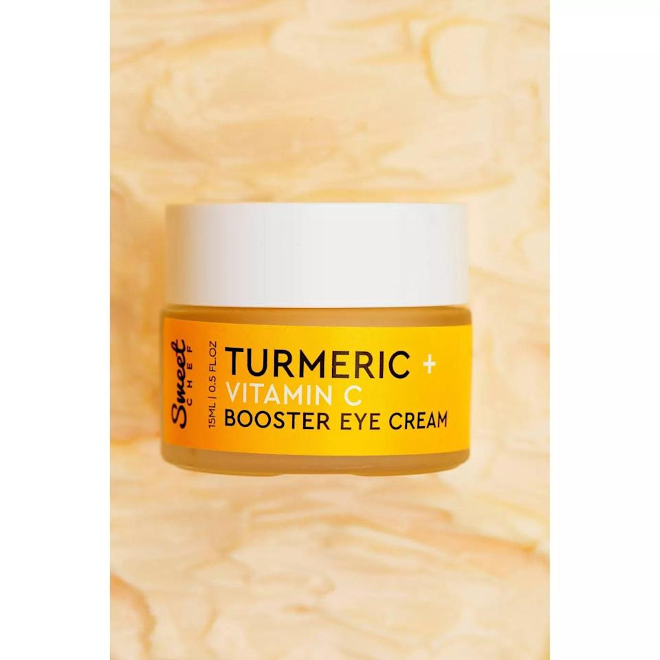 <p>The <span>Sweet Chef Turmeric + Vitamin C Booster Eye Cream</span> ($18) is lightweight and won't pill under makeup. It contains vitamin C, antioxidant-rich turmeric extract, probiotics, and niacinamide to help brighten and nourish the delicate area.</p>