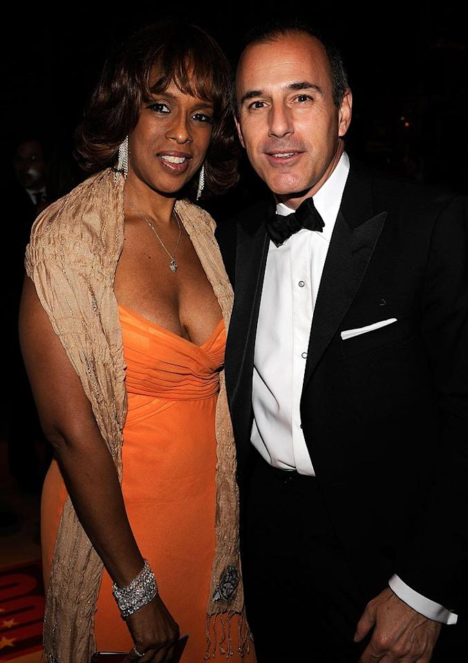 """Oprah's BFF Gayle King caught up with the always dapper """"Today Show"""" host, Matt Lauer. Larry Busacca/<a href=""""http://www.wireimage.com"""" target=""""new"""">WireImage.com</a> - May 8, 2008"""