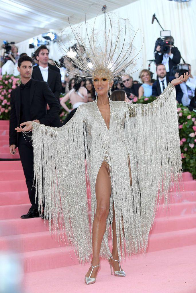 """<p>The singer arrived to the 2019 Met Gala in a stunning glittery leotard and headpiece, hitting the nail on the head for this year's theme, """"CAMP: Notes on Fashion.""""</p>"""