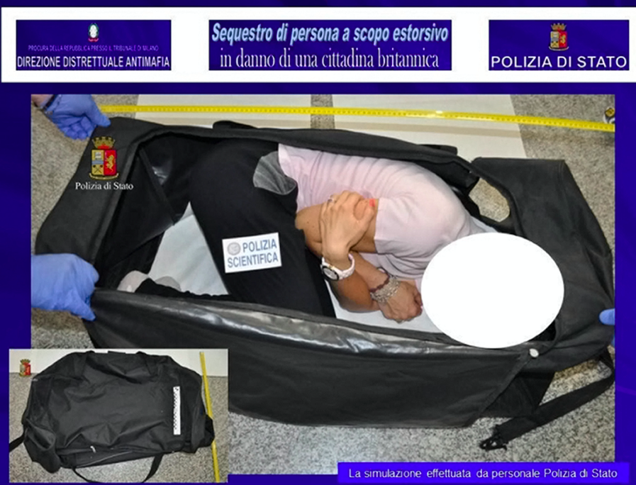 An Italian police reconstruction of the alleged kidnapping (Picture: Rex)
