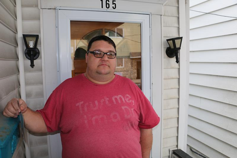 Dwight Harris, 40, is a Republican voting for Conor Lamb. (Daniel Marans/HuffPost)